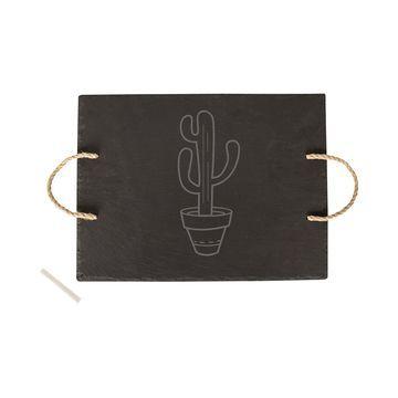Slate Cactus Serving Board