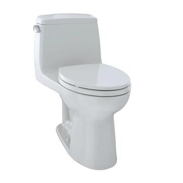 TOTO MS854114S UltraMax 1.6 GPF One Piece Elongated Toilet with G-Max Flush System - SoftClose Seat Included Colonial White Fixture Toilet One-Piece