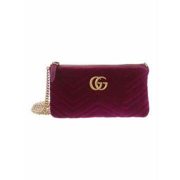 Velvet GG Marmont Matelasse Mini Chain Bag Purple