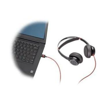 Poly Blackwire 7225 - Headset - on-ear - wired - active noise canceling - USB - black