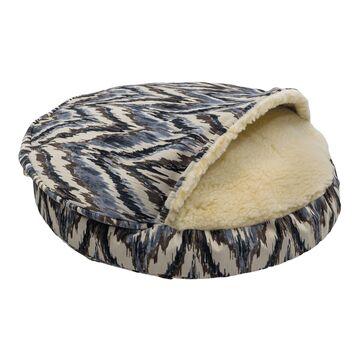 Snoozer Premium Micro Suede Cozy Cave Pet Bed in Tempest Indigo, 25