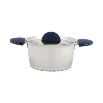 BergHOFF Stacca Stainless Steel 3-Qt. Covered Casserole, Blue