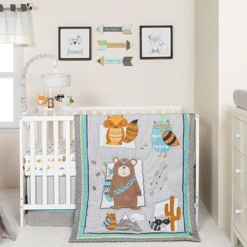 Trend Lab Lodge Buddies 3 Piece Crib Bedding Set