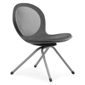 Ofm Net Series 4-Legged Chair, Gray