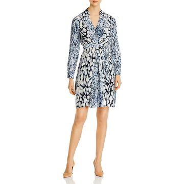 Elie Tahari Womens Saxon Shirtdress Printed Long Sleeves - Stargazer Multi