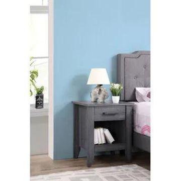 Lennox 3-drawer Wooden Nightstand (Black)