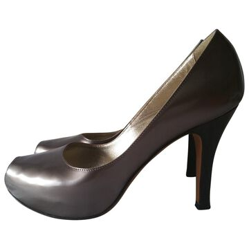 Luciano Padovan Grey Patent leather Heels