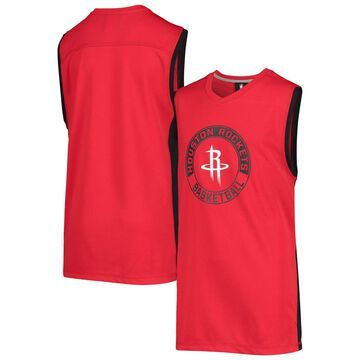 Youth Outerstuff Red Houston Rockets Pre-Game Muscle V-Neck Tank Top