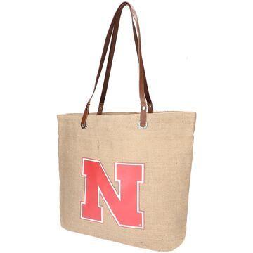 Nebraska Huskers Little Earth Burlap Tote Bag