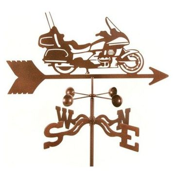 EZ Vane Touring Motorcycle Weathervane With Post Mount