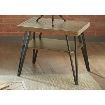 Liberty Horizons Rustic Caramel End Table