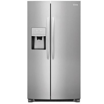 Frigidaire Gallery 22-cu ft Counter-Depth Side-by-Side Refrigerator with Ice Maker (Smudge-Proof Stainless Steel) Energy Star