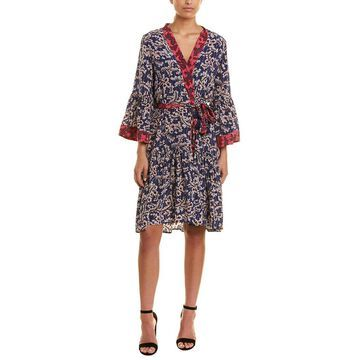 Figue Womens Caroline Silk Wrap Dress