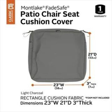 Classic Accessories Montlake Water-Resistant Patio Seat Cushion Slip Cover (23