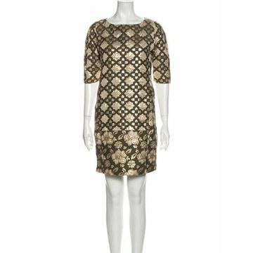 Msgm Printed Mini Dress Metallic Msgm Printed Mini Dress