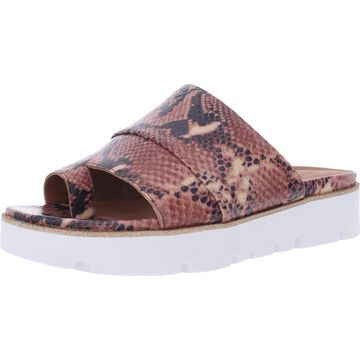 Gentle Souls by Kenneth Cole Womens Lavern Flatform Sandals Leather Snake Print - Brown Multi