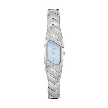 Seiko Women's Tressia Diamond Stainless Steel Solar Watch - SUP331