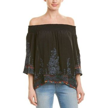 Johnny Was Womens Silk Top