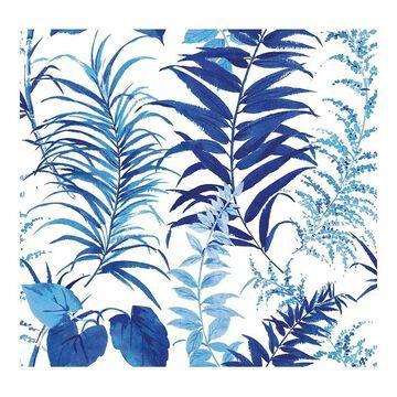 RoomMates Fern Forest Peel & Stick Wallpaper, Blue
