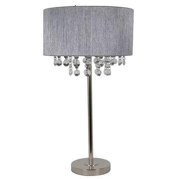 Decor Therapy Penelope Table Lamp, Grey