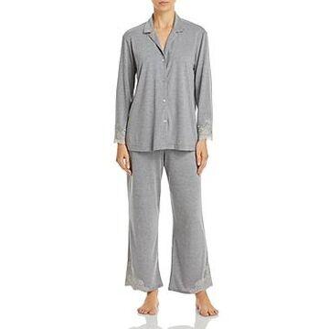 Natori Lace Trim Pajama Set