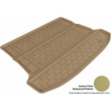 3D MAXpider 2010-2016 Cadillac SRX All Weather Cargo Liner in Tan with Carbon Fiber Look