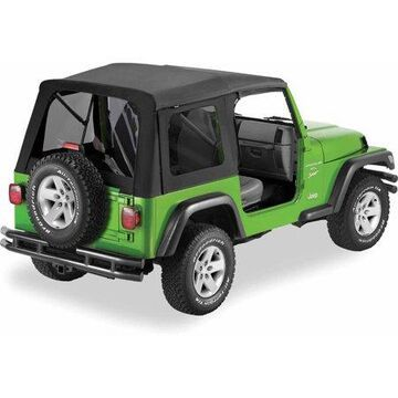 Bestop 547 Jeep Wrangler with Tinted Windows Supertop Replacement Top, Black Denim