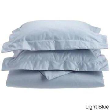 Superior 1000 Thread Count Wrinkle Resistant Cotton Blend Duvet Cover Set (Light Blue - California King)