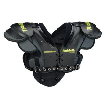 Riddell Surge Youth Football Shoulder Pad, Black/Volt, Medium