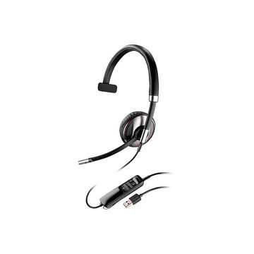 Plantronics Blackwire C710 Headset - Mono - USB - Wired/Wireless - Bluetooth - 20 Hz - 20 kHz - Over-the-head - Monaural - Supra-aural - Noise Cancelling Microphone - Black
