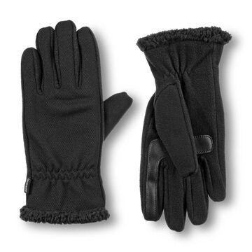 Women's isotoner Stretch Fleece Gloves with Sherpa Trim