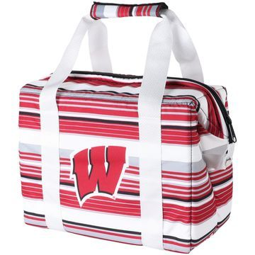 Wisconsin Badgers Twelve-Pack Striped Cooler