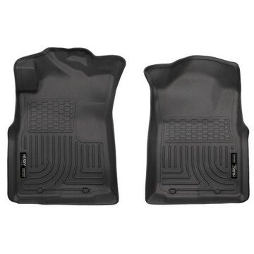 Husky Liners 05-15 Toyota Tacoma Crew/Extended/Standard Cab WeatherBeater Front Black Floor Liners
