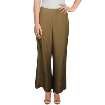 Lafayette 148 New York Womens Riverside Trouser Pants Silk Wide Leg