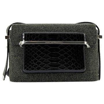 Mary Katrantzou Grey Leather Handbags