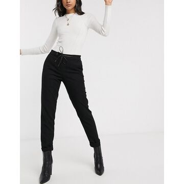 Esprit tailored sweatpants in black