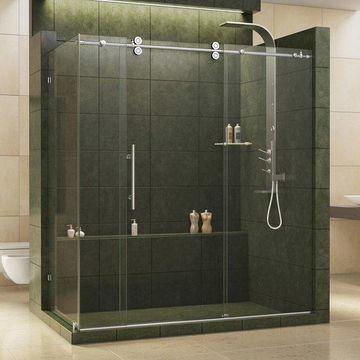 Dreamline Polished Stainless Sliding Shower Enclosure