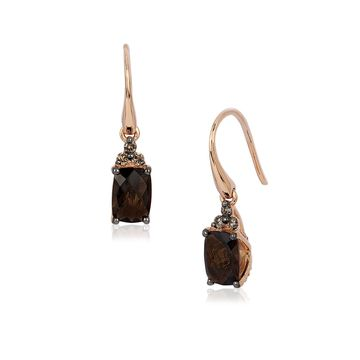 Le Vian Chocolatier Diamond, Quartz & 14K Rose Gold Earrings