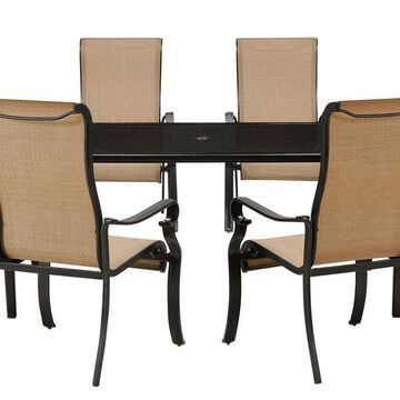 Hanover Brigantine Collection 7-Piece Dining Set with Glass-Top Table