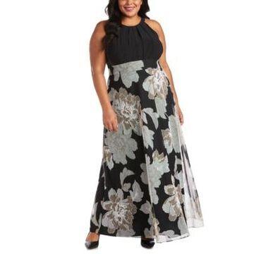 R & M Richards Plus Size Floral-Print Maxi Dress