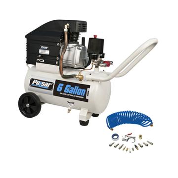 Pulsar 6 Gallon Horizontal Air Compressor w/ Air Tool Kit