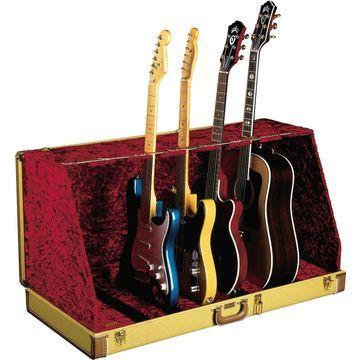 7 Guitar Case Stand Tweed