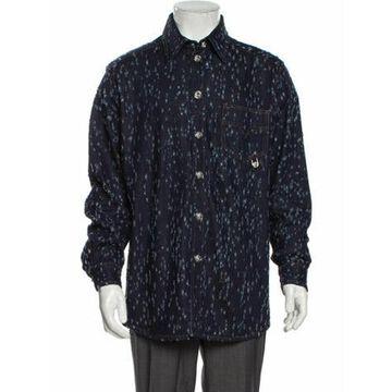 Printed Jacket Blue