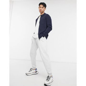 Selected Homme knit zip through jacket in navy