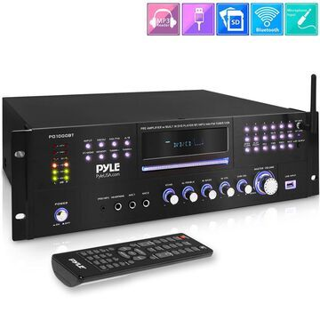 Pyle PD1000BT - Home Theater Preamplifier - Pro Audio Stereo Receiver System with CD/DVD Player, MP3/USB Reader, AM/FM Radio (1000 Watt)
