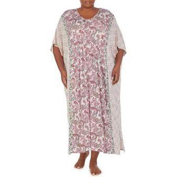 Ellen Tracy Women's Plus Size Paisley Caftan - -