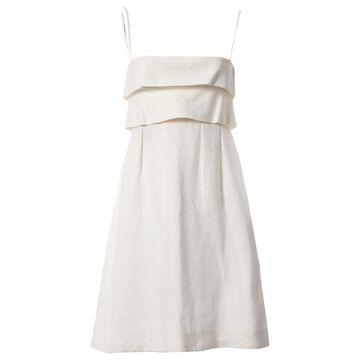 Valentino Ecru Linen Dresses
