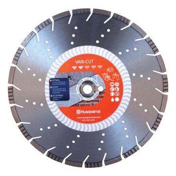 Husqvarna Vari-Cut 14 in. Dia. x 1 in. / 20 mm Segmented Rim Diamond Saw Blade 1 pk
