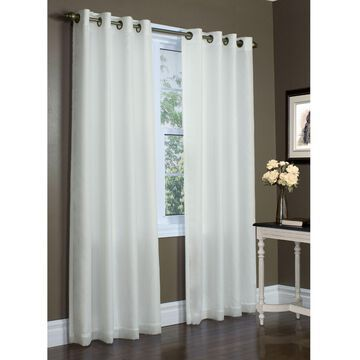 """Commonwealth Home Fashions Rhapsody 72"""" Grommet Window Curtain Panel In Ivory (Single)"""