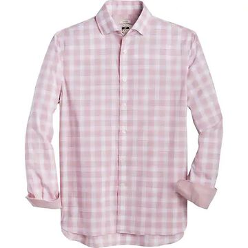 Joseph Abboud Men's Rose Check Sport Shirt - Size: Medium